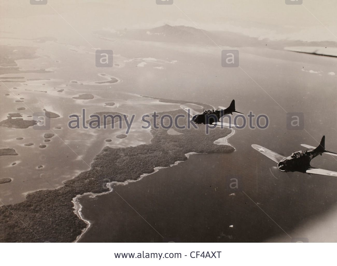 Download this stock image: A the bulldog approached the target. Dive bombing mission to Kolombangara, Guadalcana. WWII Pacific campaign Marines August 22, - CF4AXT from Alamy's library of millions of high resolution stock photos, illustrations and vectors.