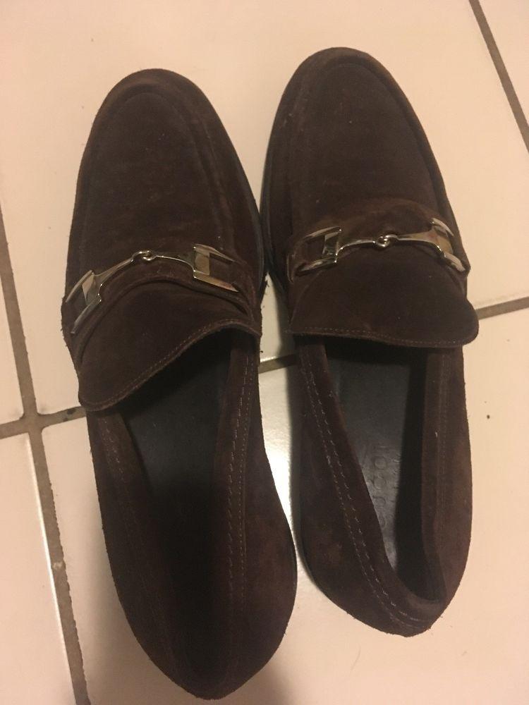 0cba11ea922 Vintage GUCCI Horsebit Brown Suede Men s Shoes Size 10 1 2 M US  fashion