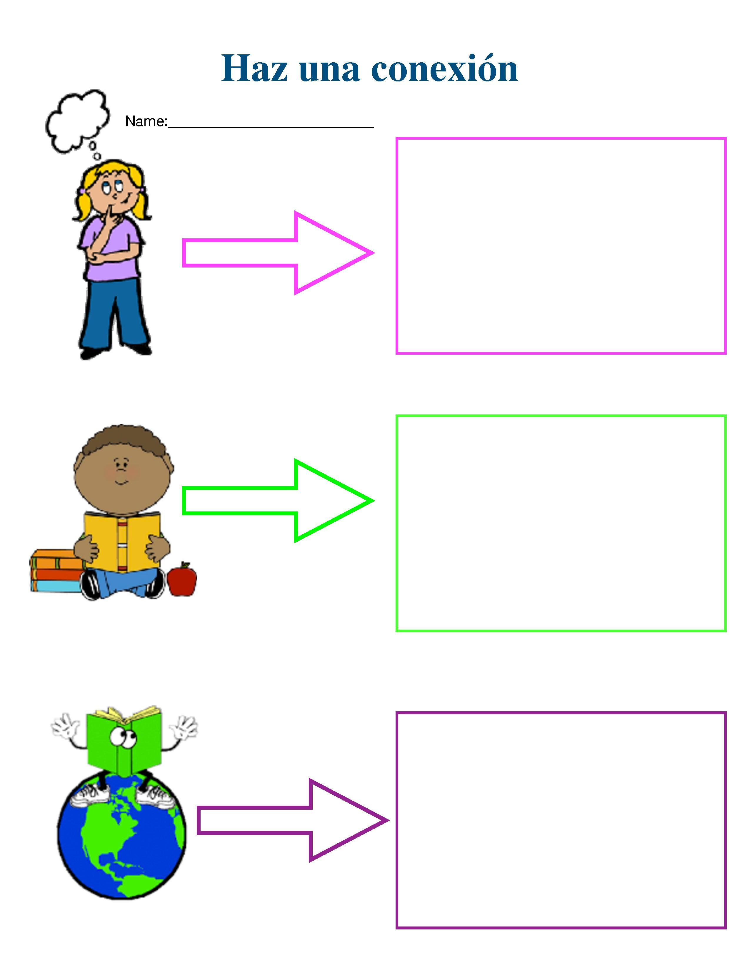 Making Connections Spanish Graphic Organizer