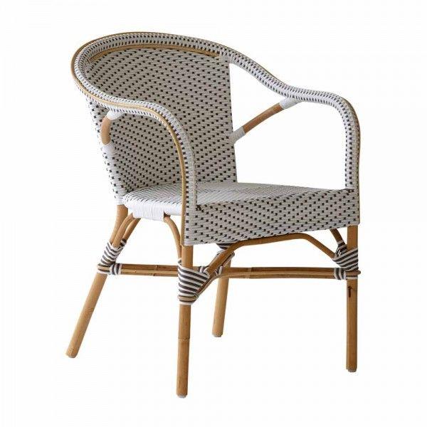 Bistrosessel Sorbonne Rattan Weiß Bistro Stühle
