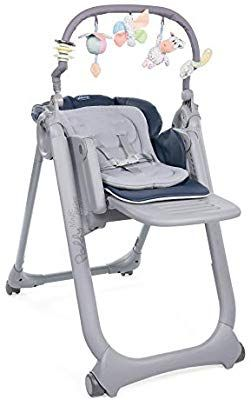 Chicco Chaise Haute Bébé Polly Magic Relax 4 Roues Cocoa Dossier