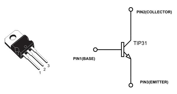 TIP31C Transistor Pinout (com imagens)