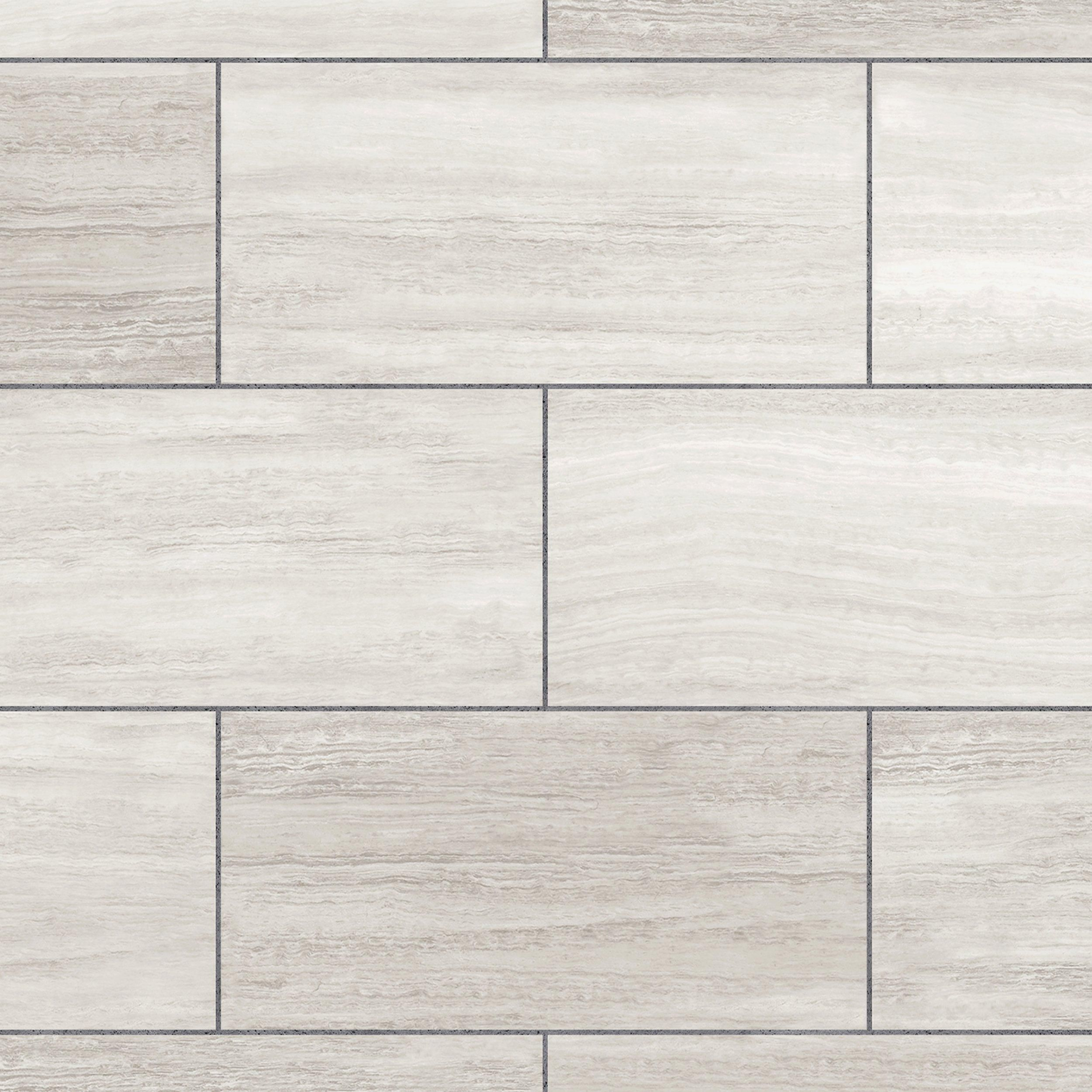 White Grouted Rigid Core Luxury Vinyl Tile Cork Back