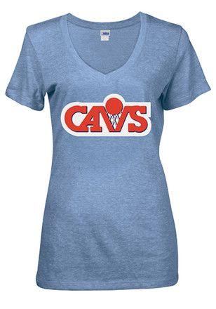 Cleveland Cavaliers Womens Blue Glitter T-Shirt  d1f1ad908f