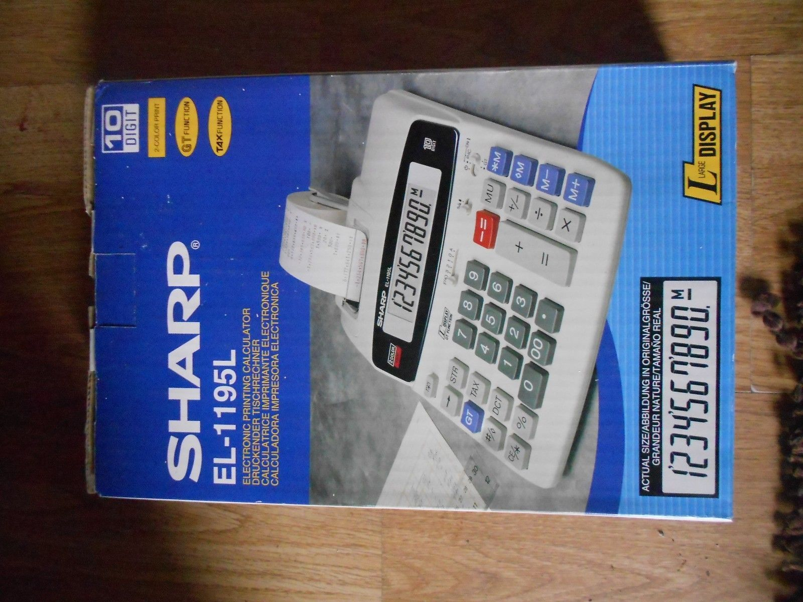 Sharp el-1195l calculator 2 #colour print 10 #digit gt tax unused with #instructi,  View more on the LINK: http://www.zeppy.io/product/gb/2/322227696643/