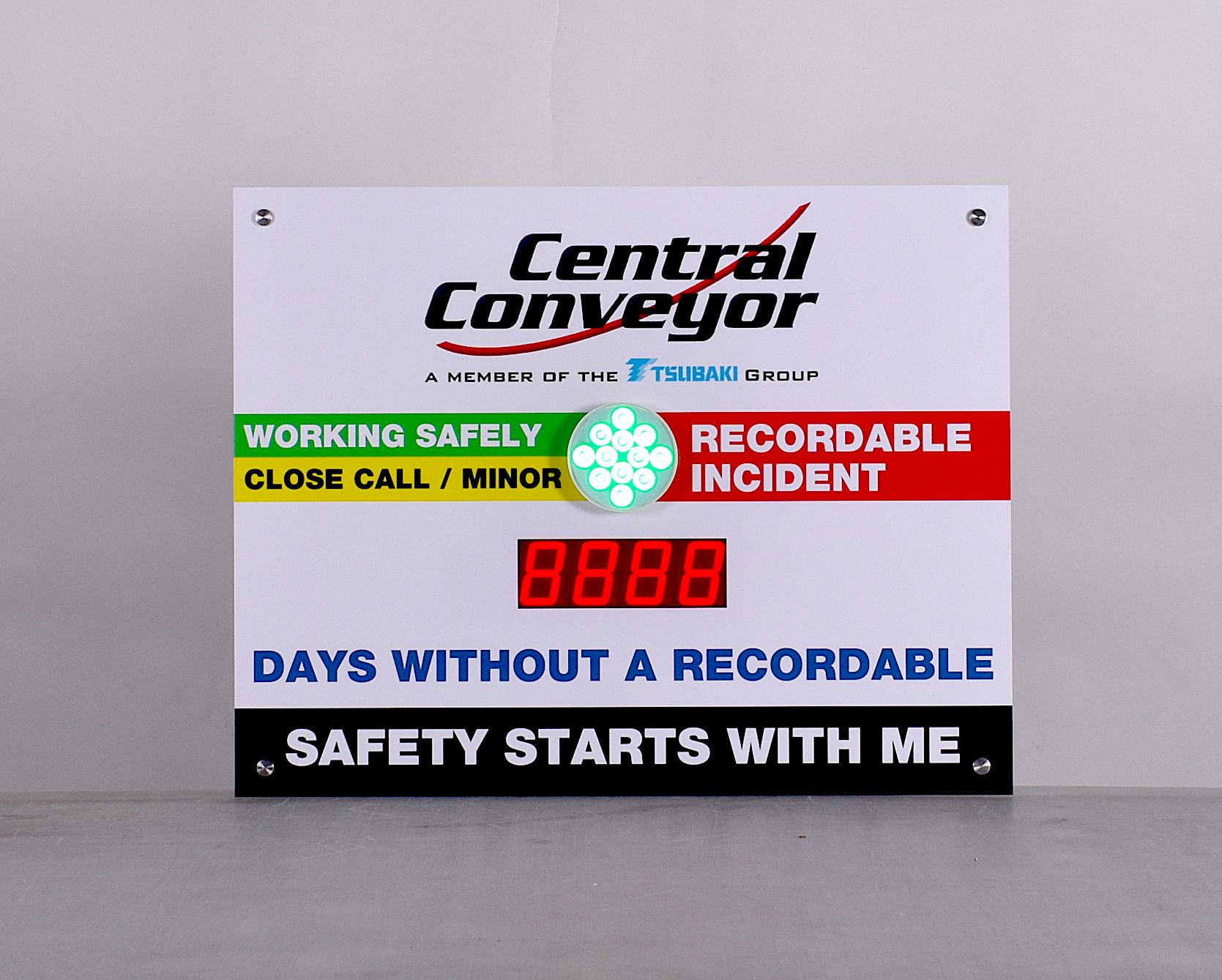 Multicolor Light Safety Scoreboard Sign with Numeric
