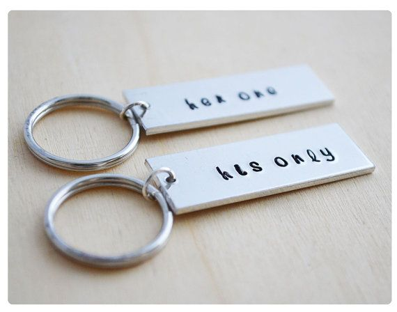 Her One His Only Couples Keychain Gift For Her Wedding Keyrings