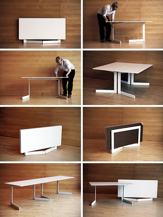 Foldable Table E Saving Ideas For Small Urban Living Es