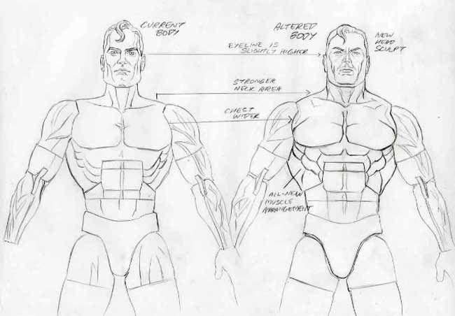 Alex Ross design for Superman action figure
