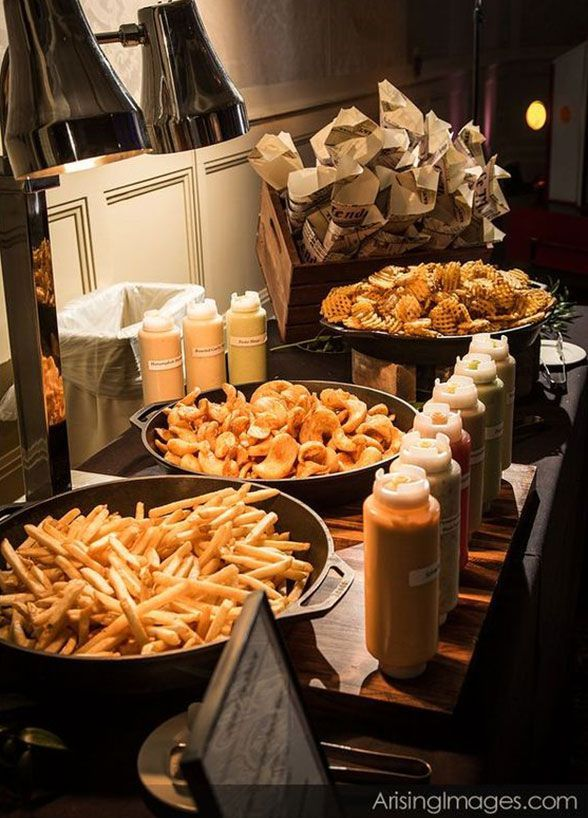What could be more delicious then a French fry station