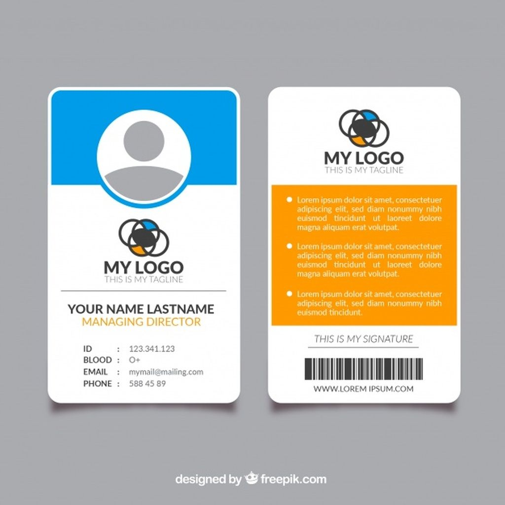 Id Card Template Paid Sponsored Paid Template Card Id 2020