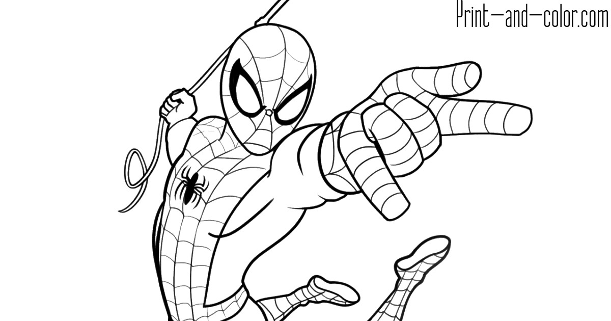 Colouring Sheet Spiderman in 2020 | Superhero coloring ...