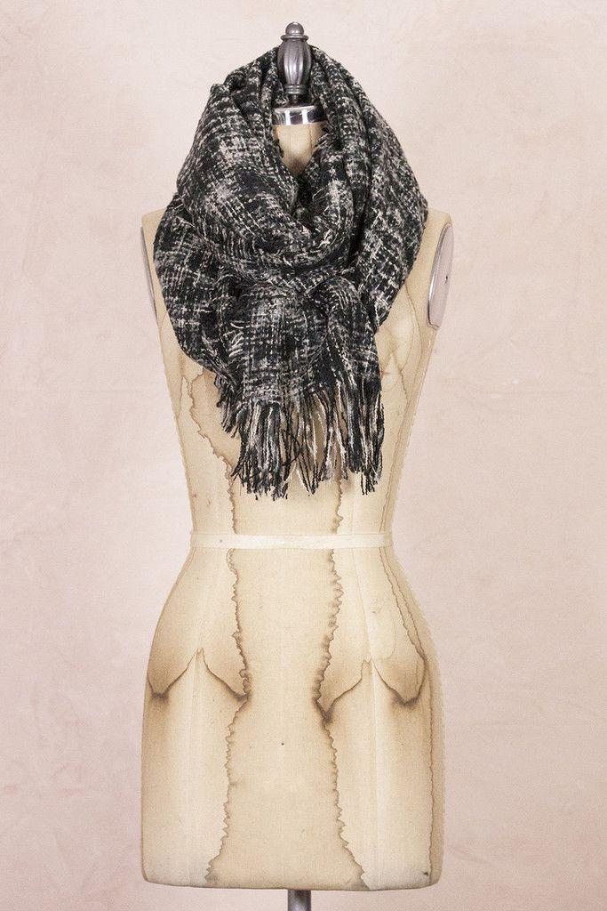 Black Tweed Scarf
