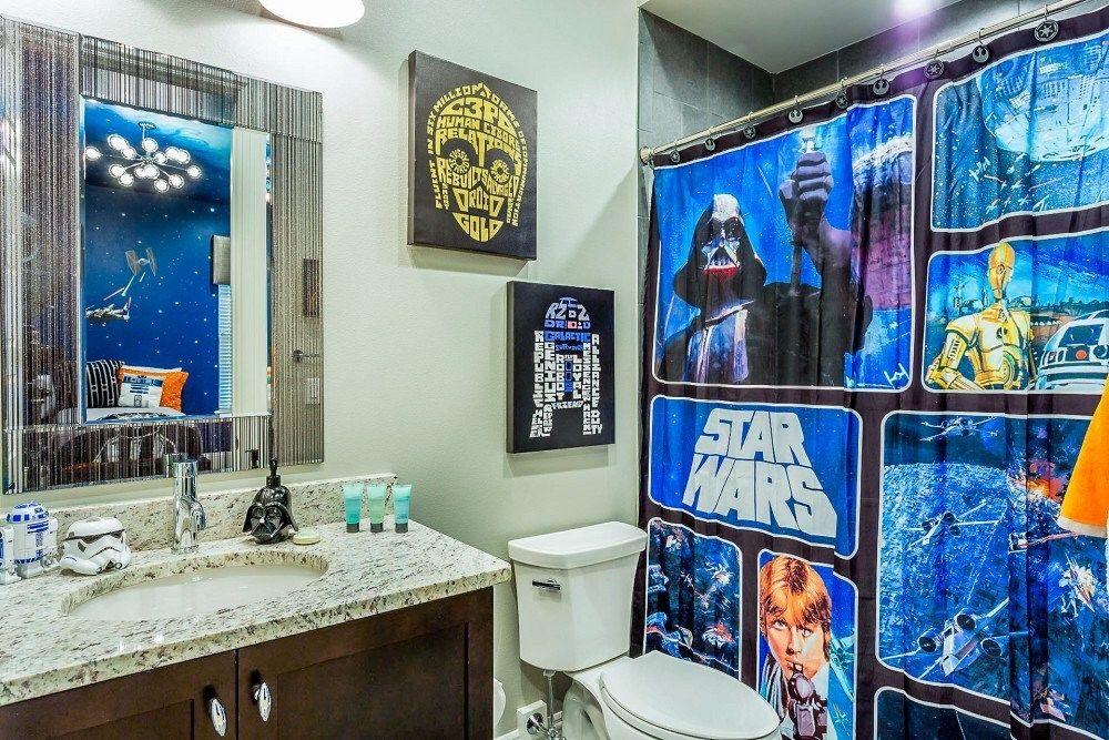 Star Wars Themed Vacation Rentals In Orlando Star Wars Bathroom Decor Star Wars Bathroom Star Wars Themed Bathroom
