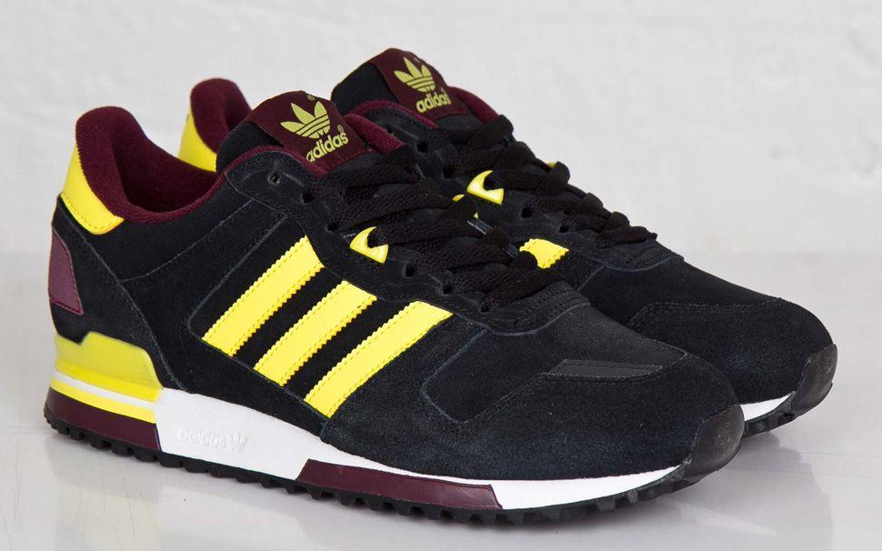 "quality design d58b5 7810b adidas ZX 700 ""Black, Yellow   Burgundy"""