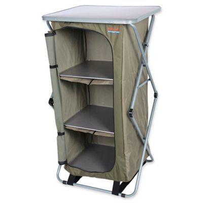 Bushtec Adventure Sierra 4 Shelf Single Camp Cupboard Beige Camping Essentials Camping Supplies Camping Hacks