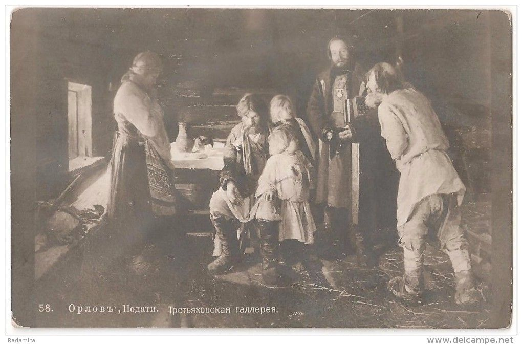 "POSTCARD ""Heavy taxes Orlov Painter"" Russia Beginning of the XX."