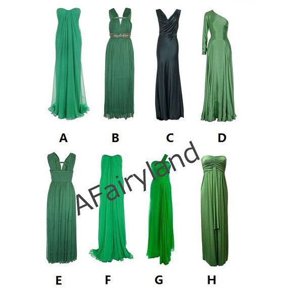 Green Serie lange Brautjungfer Kleid/Damen von AFairyland auf Etsy ...