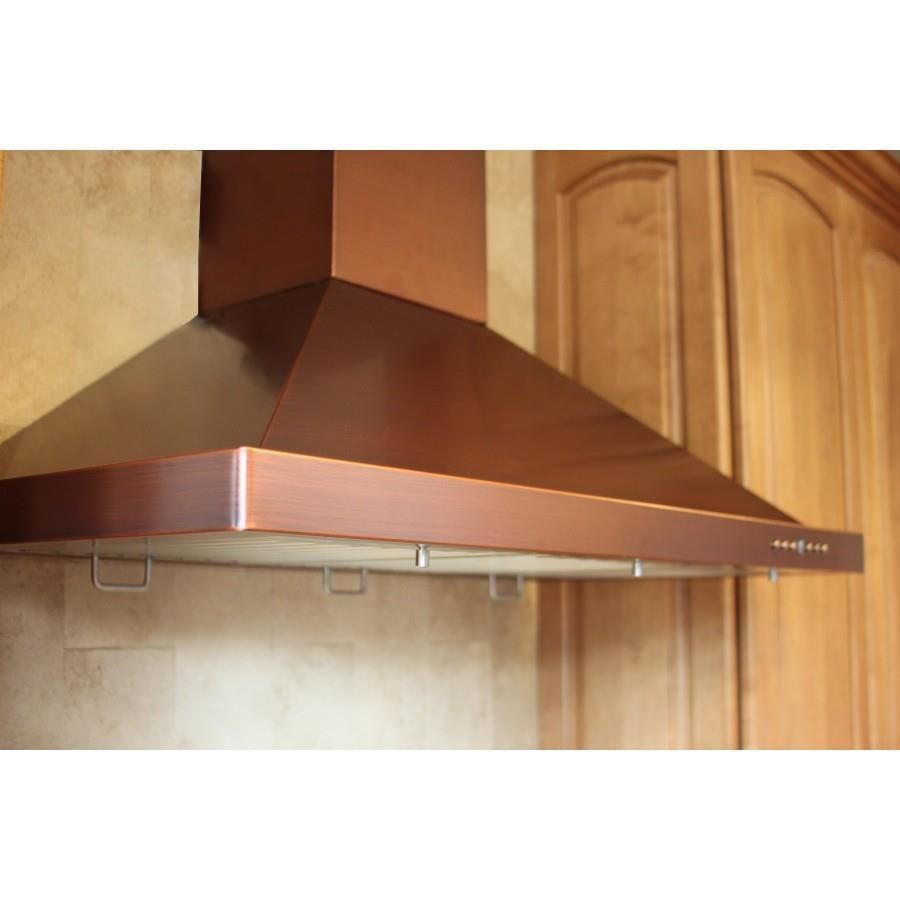 Z Line 48 Wall Range Hood With Baffle Filters Copper 8kbc 48 Zlinekitchen Wall Mount Range Hood Range Hood Kitchen Ventilation