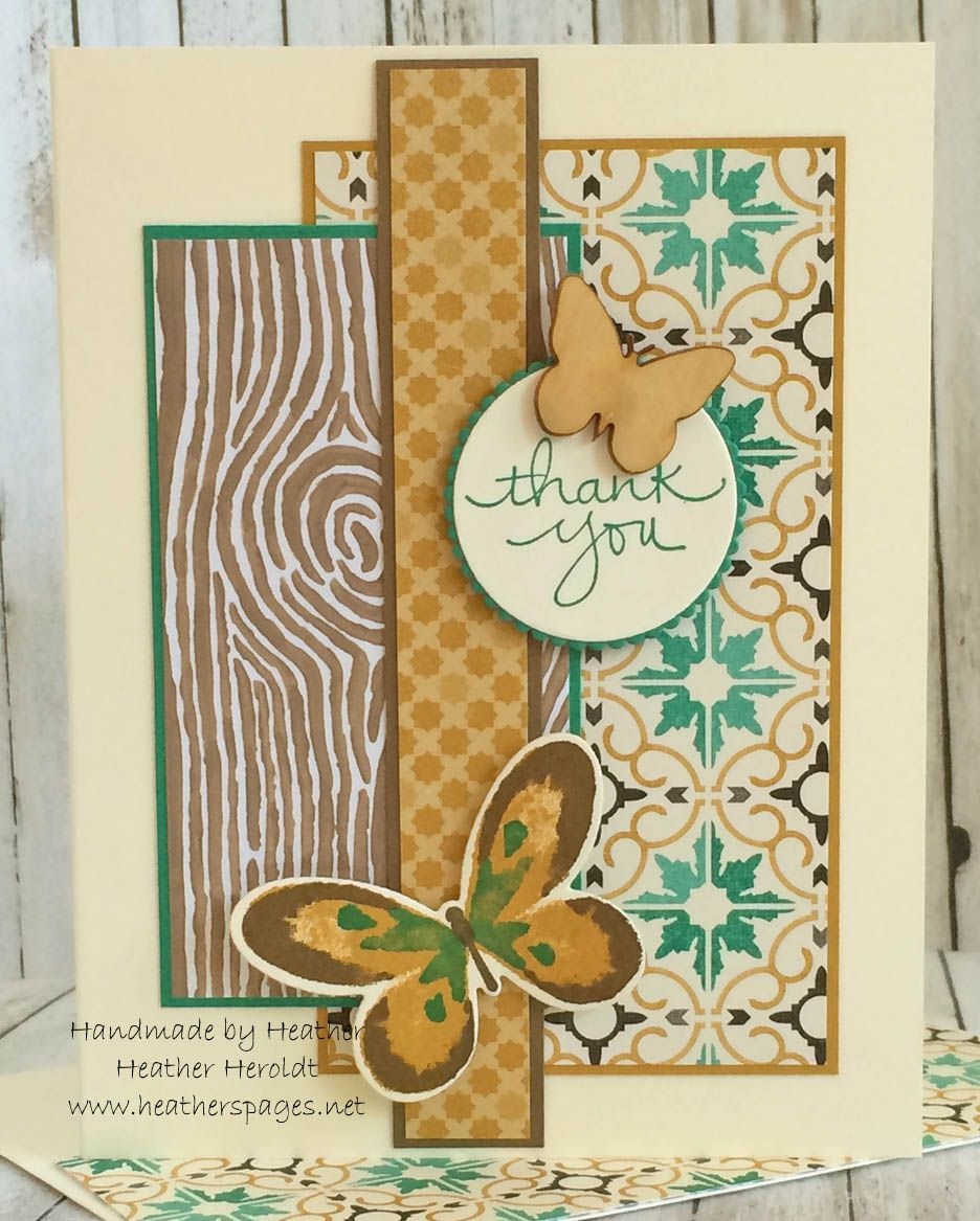 Moroccan and Into the Woods DSP in soft suede, delightful dijon, very vanilla and emerald envy