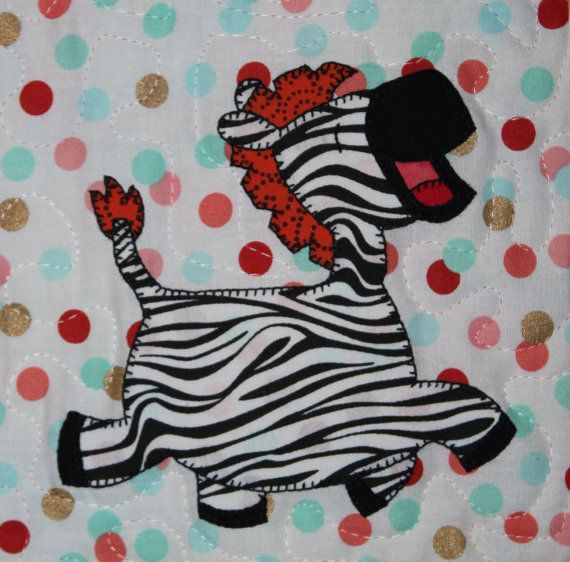 Zebra PDF applique pattern; baby or child\'s quilt pattern; zoo quilt ...