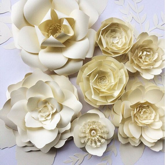 Paper Flower Wall Decor large paper flower backdrop by PaperFlora ...
