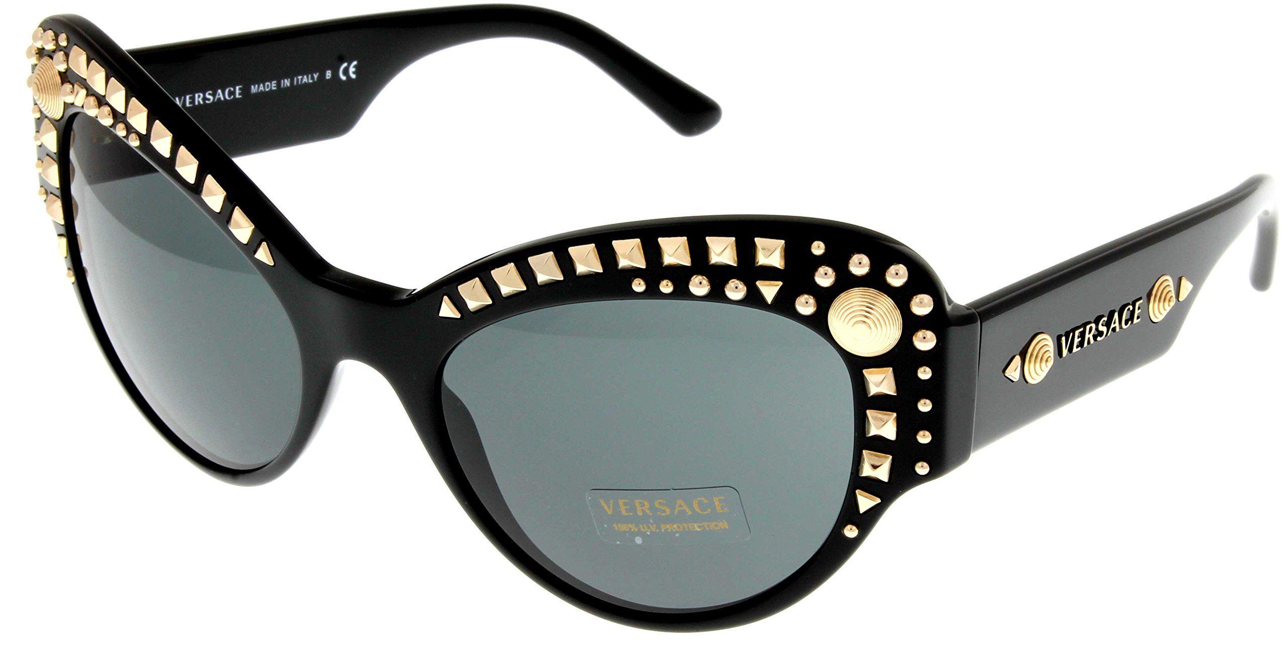 5962bfaa0010 Versace Sunglasses Womens Black Cateye 100% UV Protection VE4269 GB1 ...