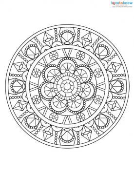 Adult coloring pages for stress relief mandala for Stress relief coloring pages online