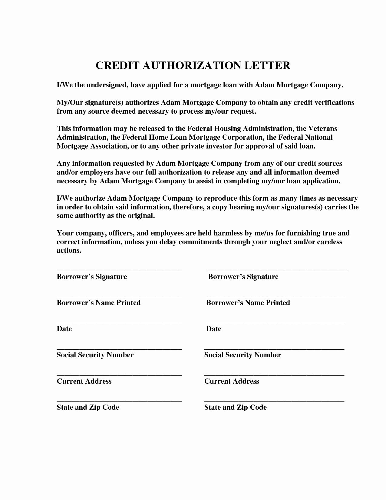 Credit Card Authorization Letter Template Luxury Credit Card Authorization Letter Format Best Template Lettering Free Business Card Templates Letter Templates
