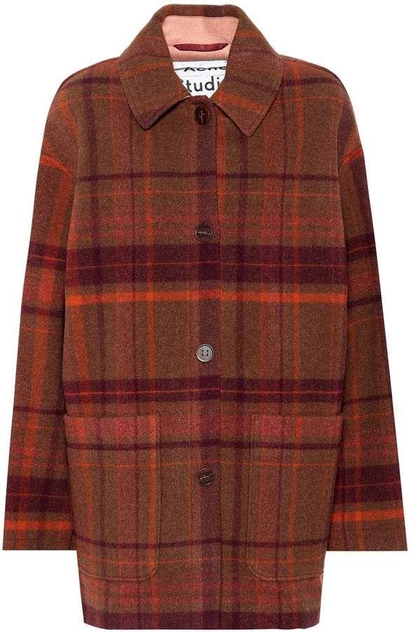 5a01051fe Acne Studios Checked wool coat | crafting in 2019 | Coat, Wool coat ...