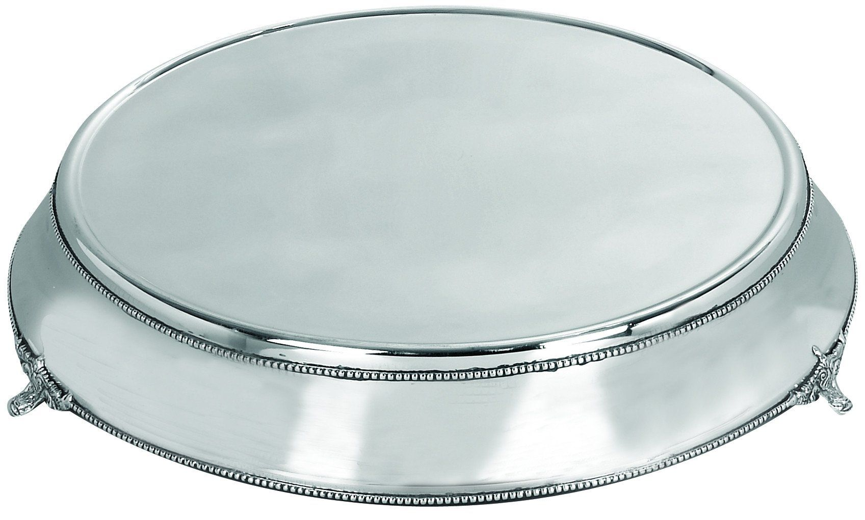 Stainless steel cake plate with silver color
