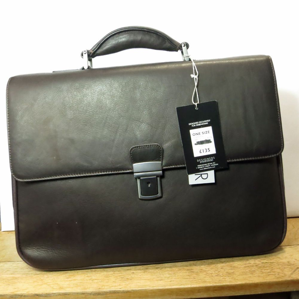 Driving gloves debenhams - Debenhams J By Jasper Conran Mens Designer Brown Leather Briefcase Bnwt