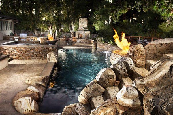 Outdoor Spa Pools And Kitchens Pool And Spa With
