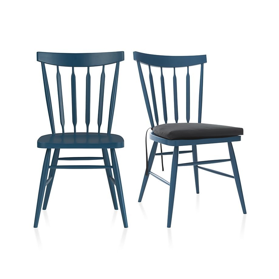 Willa Black Side Chair and Cushion | Crate and Barrel | Friedman ...