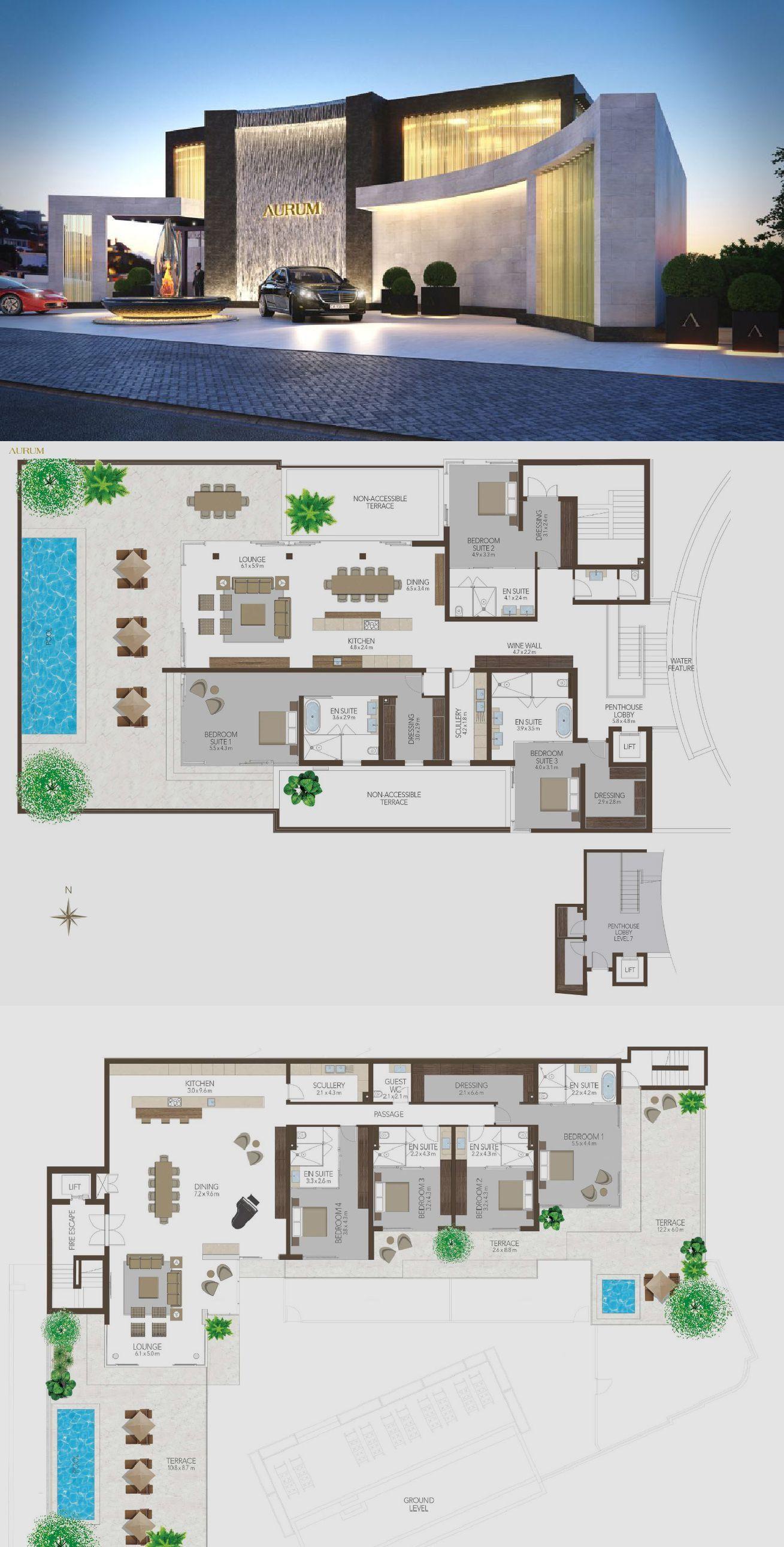 Aurum Cape Town Penthouse Luxury House Plans Modern House Floor Plans Contemporary House Plans
