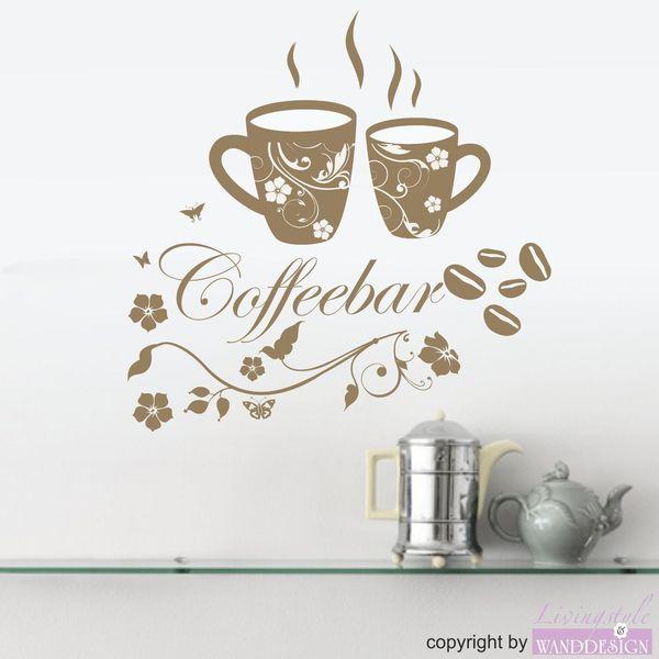 Wandtattoo Küche Kaffee Coffee Coffeebar Dawanda und Küche
