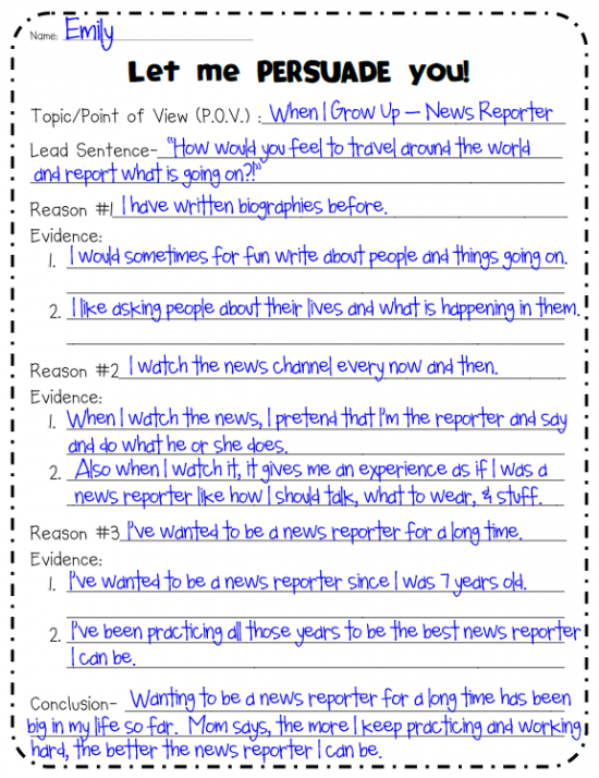 Persuasive Writing Outline Persuasive Writing Writing Outline Writing Lessons