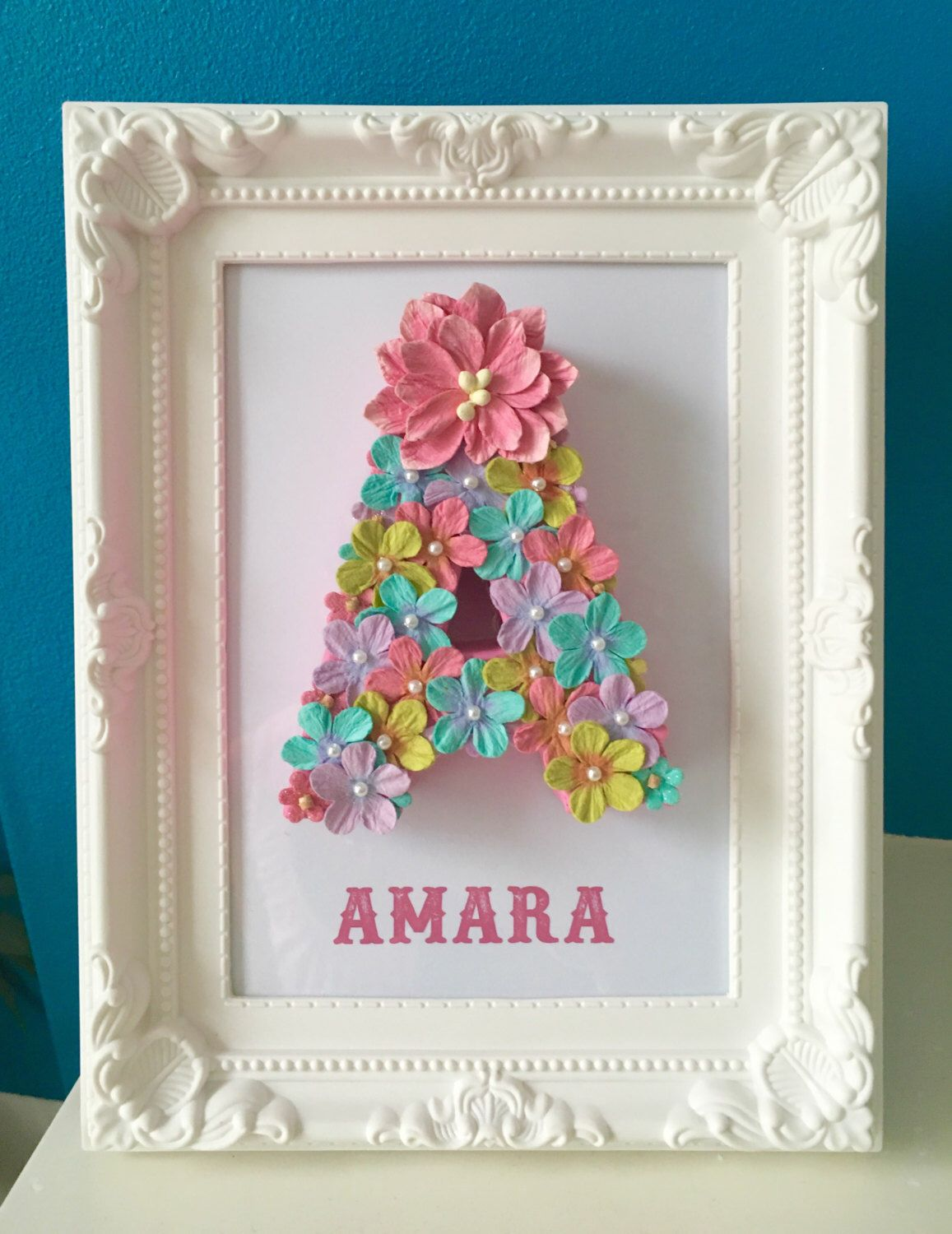 Multicoloured floral letter gift for a stepdaughter new baby gift multicoloured floral letter gift for a stepdaughter new baby gift new bedroom decor birthday gift gifts for her godmother gift flower letters negle Choice Image