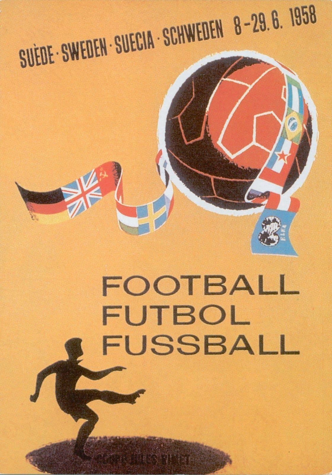 posters de la coupe du monde de foot de 1930 à 1994