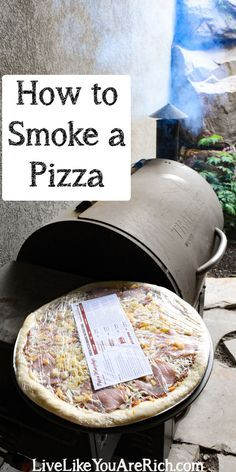 How to Smoke a Papa Murphy's Pizza #grillingrecipes