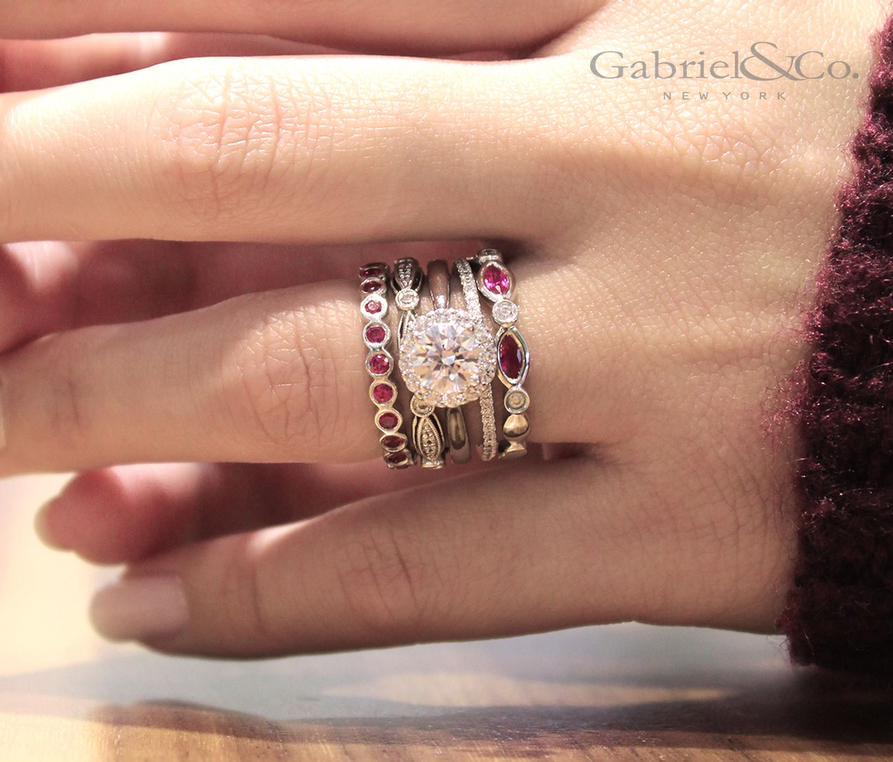 Ring Around The Rubies Enhance Your Engagement Ring And Wedding