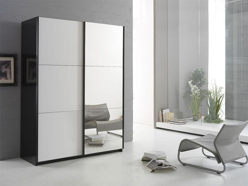 Armoire Coulissante Miroir Armoire Jazzy 148 Cm Portes Coulissantes Blanche Miroir Pas Chere Design Furniture Home