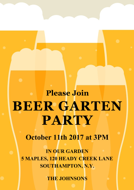 oktoberfest beer celebration invite to a beer festival beer party or the oktoberfest