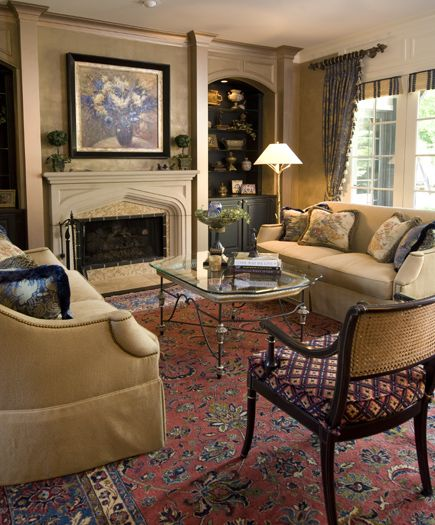 Transitional Family Room Dazzling Designs Llc Donna Brown