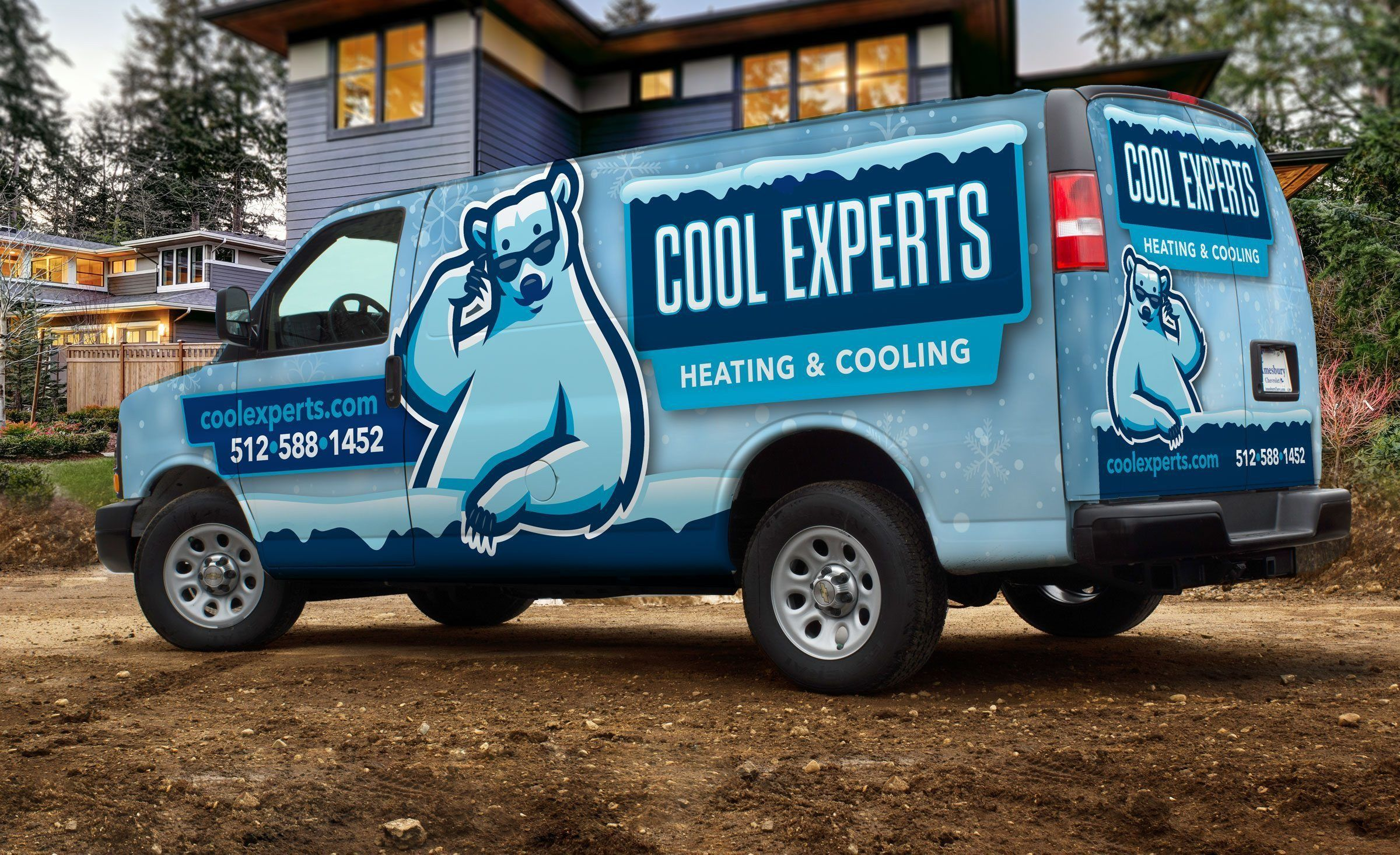 Vehicle Wrap Design For This Heating And Cooling Company Car
