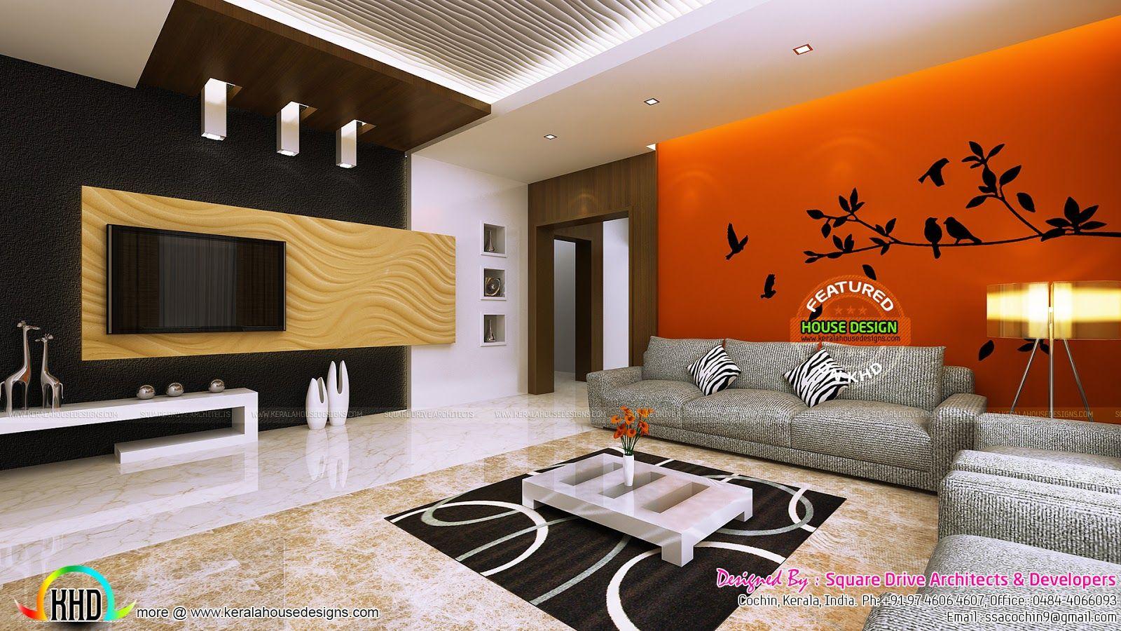 Upper living 1600 900 kk pinterest kerala Living room design kerala