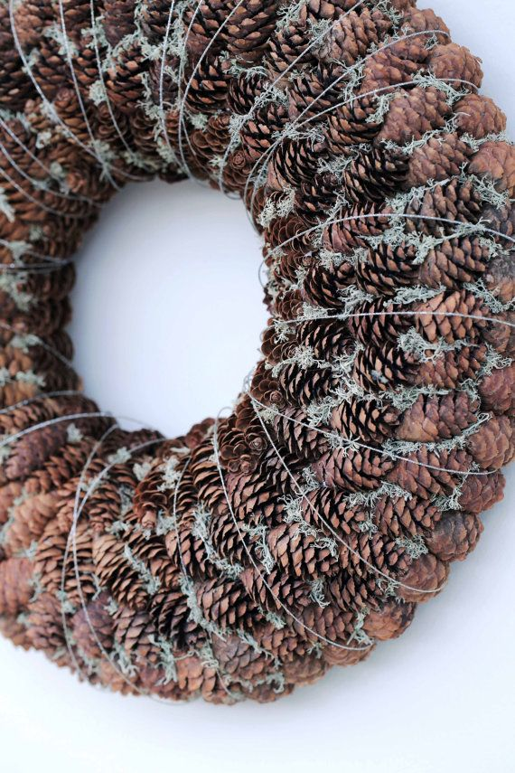 Photo of Winter Wreath- Holiday Wreath – Advent Wreath – Christmas Wreath – Candle Ring