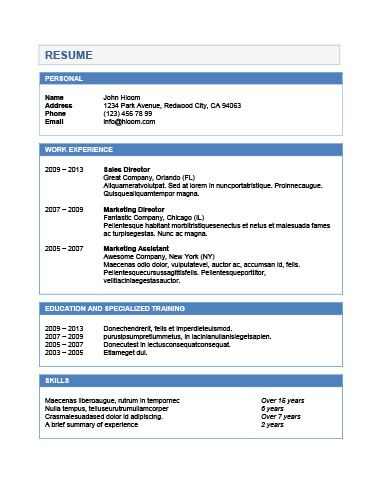 Chronological Resume by Hloom Βιογραφικο Pinterest - chronological resume