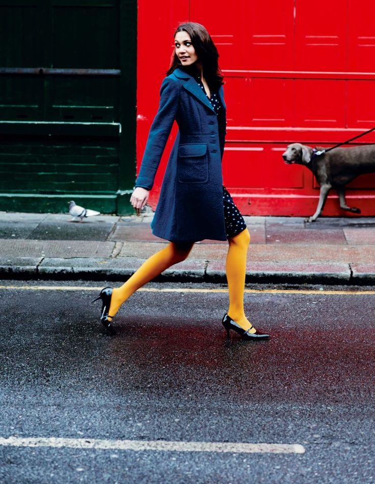 bright yellow tights