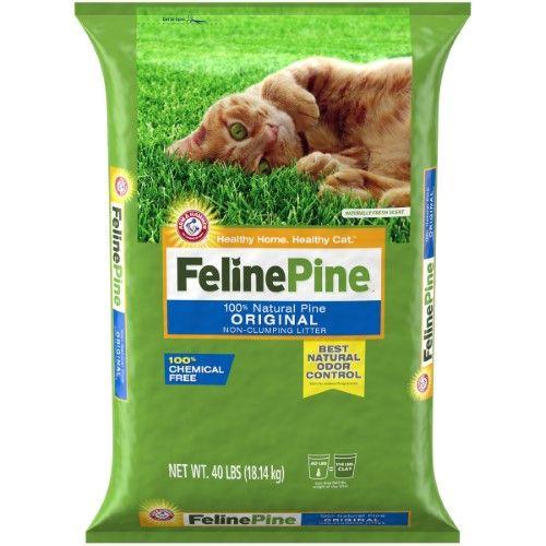 Feline Pine Natural Pine Litter Original, Non-Clumping, 40
